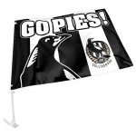 Collingwood Magpies car flag size Size 27x38cm