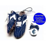 Carlton Blues AFL Hanging Suction Footy Boots * Stick anywhere!