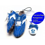 North Melbourne Kangaroos AFL Hanging Suction Footy Boots * Stick anywhere!