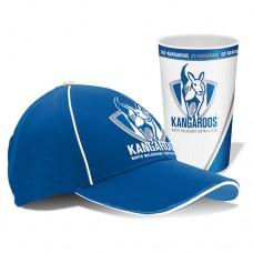 North Melbourne Kangaroos AFL Cap and Tumbler Pack
