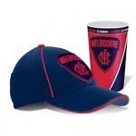 Melbourne Demons AFL Cap and Tumbler Pack