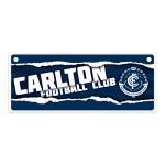 Carlton Blues AFL Small Tin License Plate