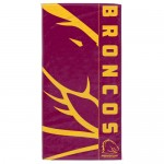 Brisbane Broncos NRL Beach Towel