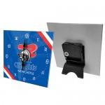 Newcastle Knights NRL Mini Glass Clock