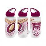 Queensland State of Origin  NRL Large Team Logo Tritan Plastic Drink Bottle