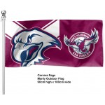 Manly Sea Eagles flag outdoor pole 1800mm x 900mm
