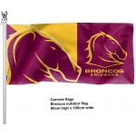 Brisbane Broncos Outdoor flag 1800mm x 900mm