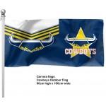 Nth Queensland (Cowboys)  outdoor flag 1800 x 900mm