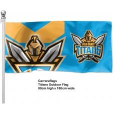 Gold Coast Titans outdoor flag  1800mm x 900mm