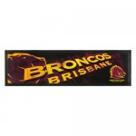 Brisbane Broncos NRL Rubber Back Bar Runner.