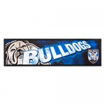 Canterbury Bulldogs NRL Rubber Back Bar Runner
