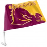 Brisbane Broncos Outdoor Car Flag 38x27cm