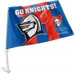 Newcastle Knights Car Flag 38x27cm