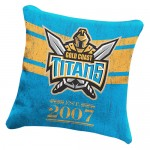 Gold Coast Titans NRL Heritage Cushion