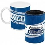 North Queensland Cowboys NRL Mug and Can Cooler Heritage Gift Pack