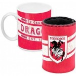 St George Dragons NRL Mug and Can Cooler  Heritage Gift Pack