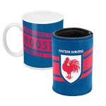 Sydney Roosters NRL Mug and Can Cooler Heritage Gift Pack