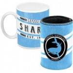 Cronulla Sharks NRL Mug and Can Coller Heritage Gift Pack