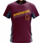 Brisbane BRONCOS 2019 Men's Grid T-Shirt NRL