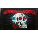 Pirate (New) Day of Dead Large Flag