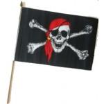 Pirate Red Bandana  Hand Flag 30x45cm
