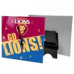 Brisbane Lions AFL Mini Glass Clock