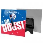 Western Bulldogs AFL Mini Glass Clock