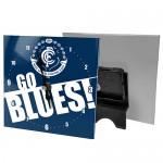 Carlton Blues AFL Mini Glass Clock