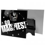 Collingwood Magpies AFL Mini Glass Clock