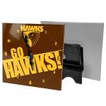 Hawthorn Hawks AFL Mini Glass Clock