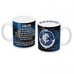 Carlton Blues AFL Team Song Mug