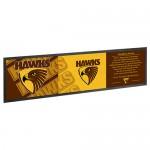 Hawthorn HAWKS AFL Rubber Back Bar Runner