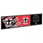St Kilda SAINTS AFL Rubber Back Bar Runner