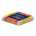 Adelaide Crows AFL Team Logo Pack OF 4 Bar Accessory Coasters