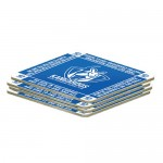 North Melbourne Kangaroos AFL Team Logo Pack OF 4 Bar Accessory Coasters