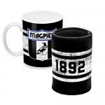Collingwood MAGPIES AFL Mug and Can Cooler Pack