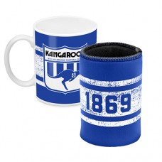 North Melbourne KANGAROOS AFL Mug and Can Cooler Pack