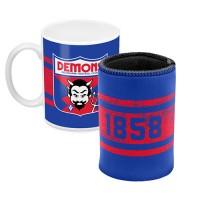 Melbourne DEMONS AFL Mug and Can Cooler Pack