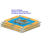 Gold Coast Titans NRL Team Logo Pack Of 4 Bar Accessory Coasters
