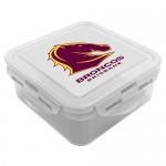 Brisbane Broncos NRL Snack Box Plastic Lunch Container