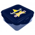 North Queensland Cowboys NRL Snack Box Plastic Lunch Container
