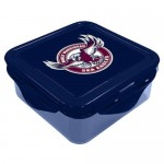 Manly Sea Eagles NRL Snack Box Plastic Lunch Container