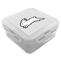 South Sydney Rabbithos NRL Snack Box Plastic Lunch Container
