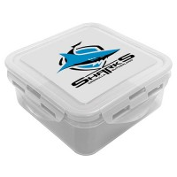 Cronulla Sharks NRL Snack Box Plastic Lunch Container