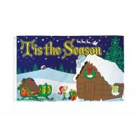 Tis the Season Christmas flag 150x90cm