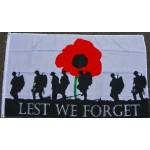 Australia Lest we forget poppy flag Remembrance flag